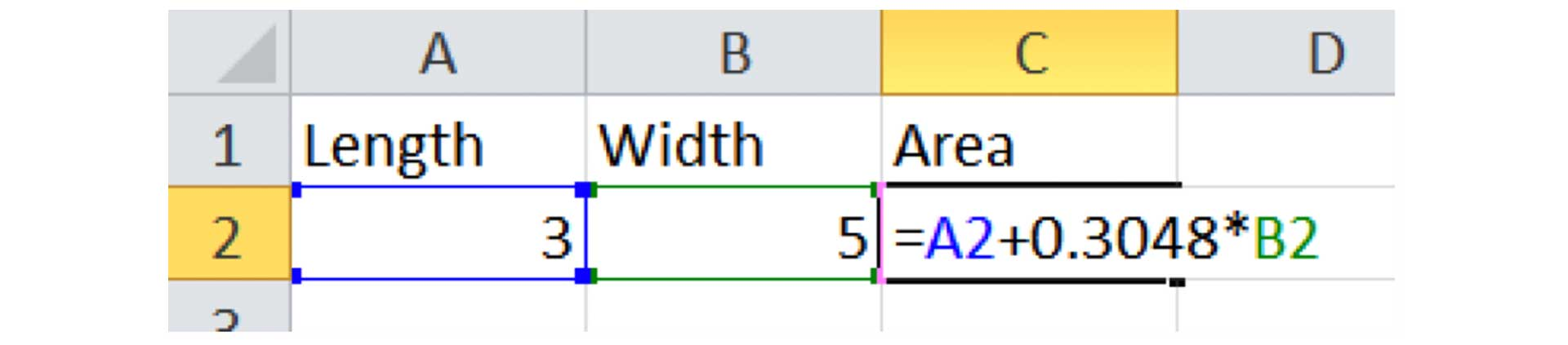 Spreadsheets have unit conversion factors appearing out of nowhere