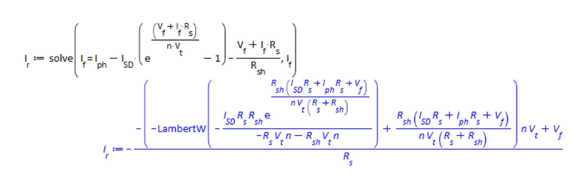 Rearrange photovoltaic diode equation