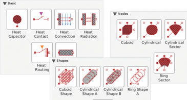 Datasheet on the MapleSim Heat Transfer Library